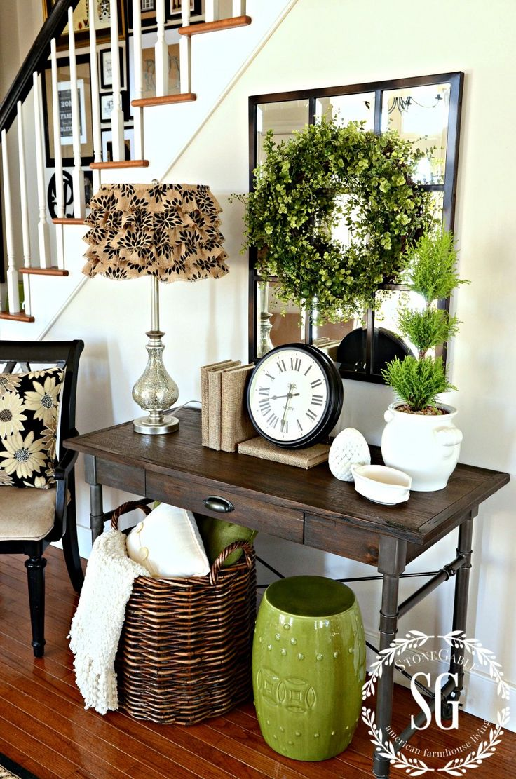 mirrors interesting entry room decor ideas with entryway mirror mirrored furniture coat rack and shelf foyer accent table floral arrangements console set for inch high round