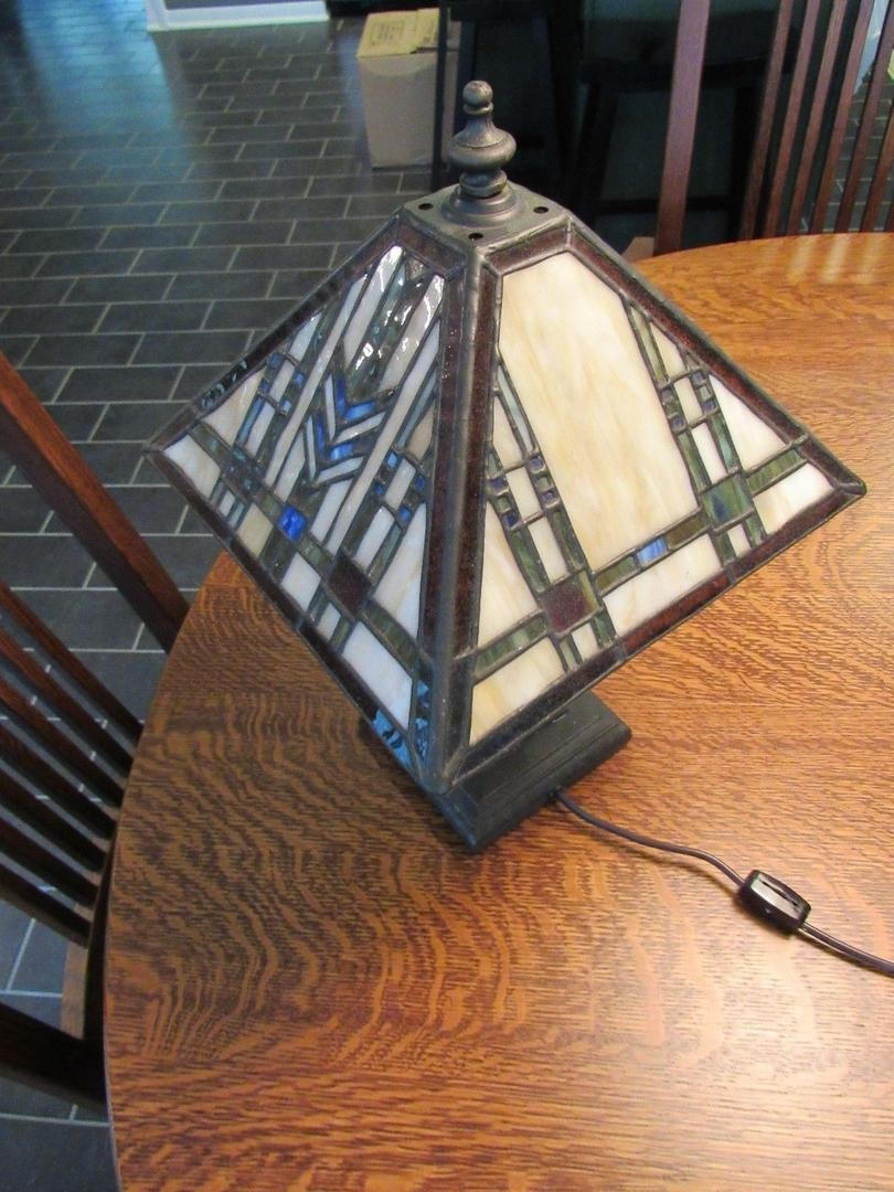 mission arts crafts craftsman style stained glass accent table tall lamp decorative with drawers art deco lighting beach themed home decor small square kitchen hand painted tables