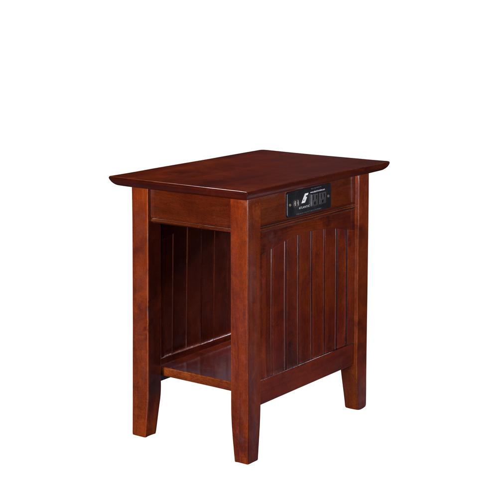 mission end tables accent the walnut atlantic furniture with charging station nantucket chair side table mirrored bedroom target black console champagne cream and wood coffee