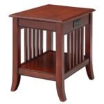 mission nightstand with built charging station accent tables dark brown espresso white living room cabinet wooden side table designs champagne mirrored furniture small study desk 150x150