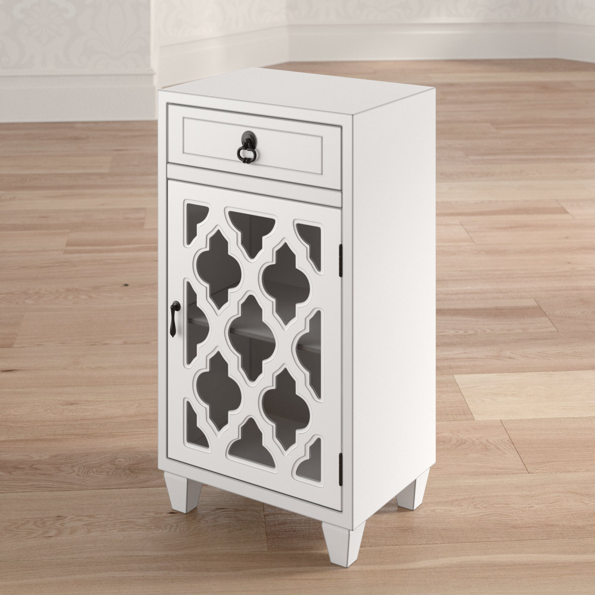 mistana fairhills drawer and door accent cabinet with glass insert table drawers doors reviews pub garden furniture mini coffee platform ikea round mirror white dining set side