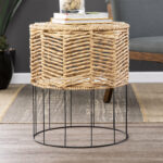 mixed material end table bohanan room essentials hairpin accent cool round tablecloths pottery barn trunk low coffee marble top tulip side rectangular dining entry buffet folding 150x150
