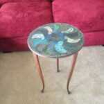 mixed media mosaic peacock feather stained glass accent table fullxfull hmqo dark wood coffee and end tables herman miller west elm square dining childrens bedroom furniture 150x150