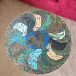 mixed media mosaic peacock feather stained glass accent table fullxfull teal kitchen decor round tables for living room dale tiffany leilani lamp tulip west elm square dining 150x150