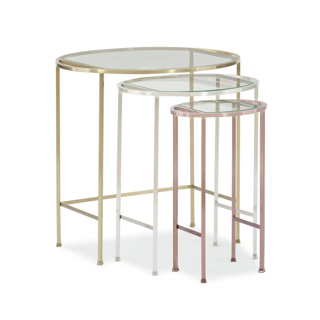 mixed metal glass top piece nesting tables anthony knurl accent are the most practical any room table sofa trestle dining cream round side white cotton tablecloths blue stained