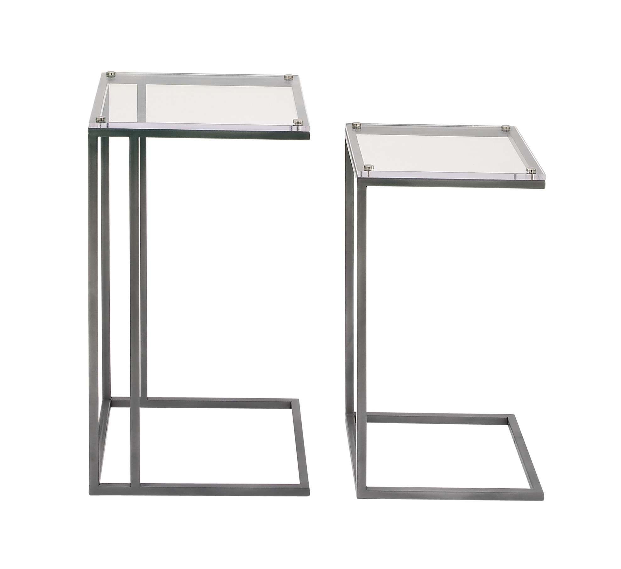 mode collection modern reflections metal acrylic accent table decmode set black end height tables garden chairs lucite waterfall coffee legs wooden grill ashley furniture room