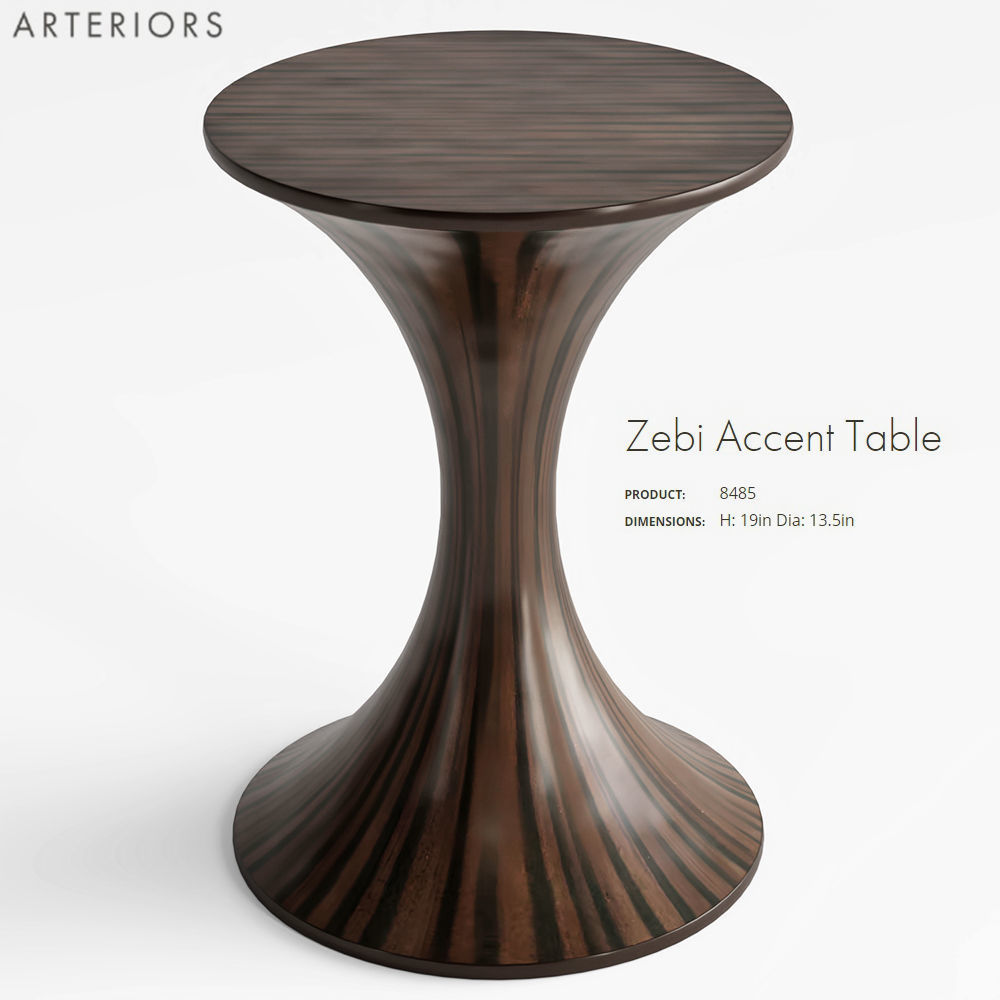 model arteriors zebi accent table cgtrader max obj fbx mtl mat office cupboard round decorative covers pier one rugs swivel dining chairs waterproof cover for garden and tablet