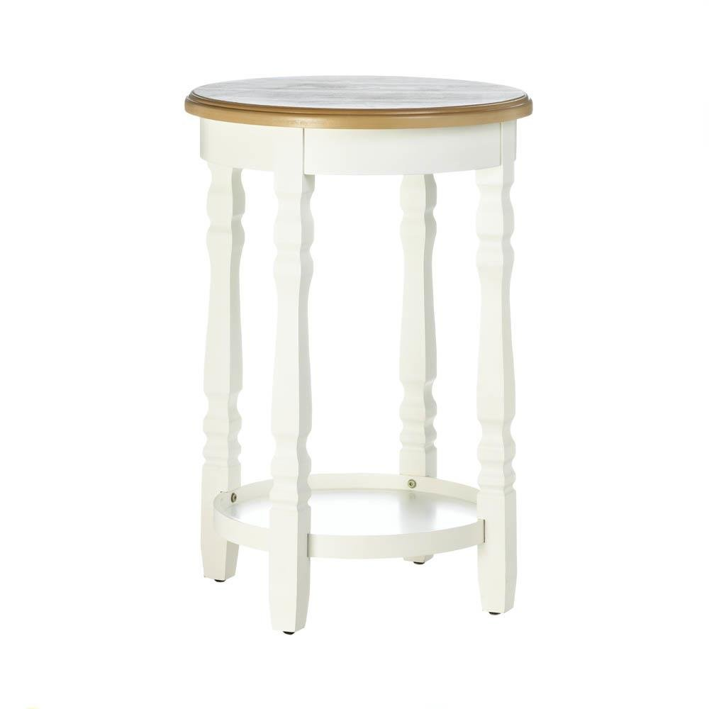 modern accent table wood top indoor outdoor side decor round patio garden with ice bucket astoria furniture nite stands dining for grooming wireless lamp wine rack glass holder