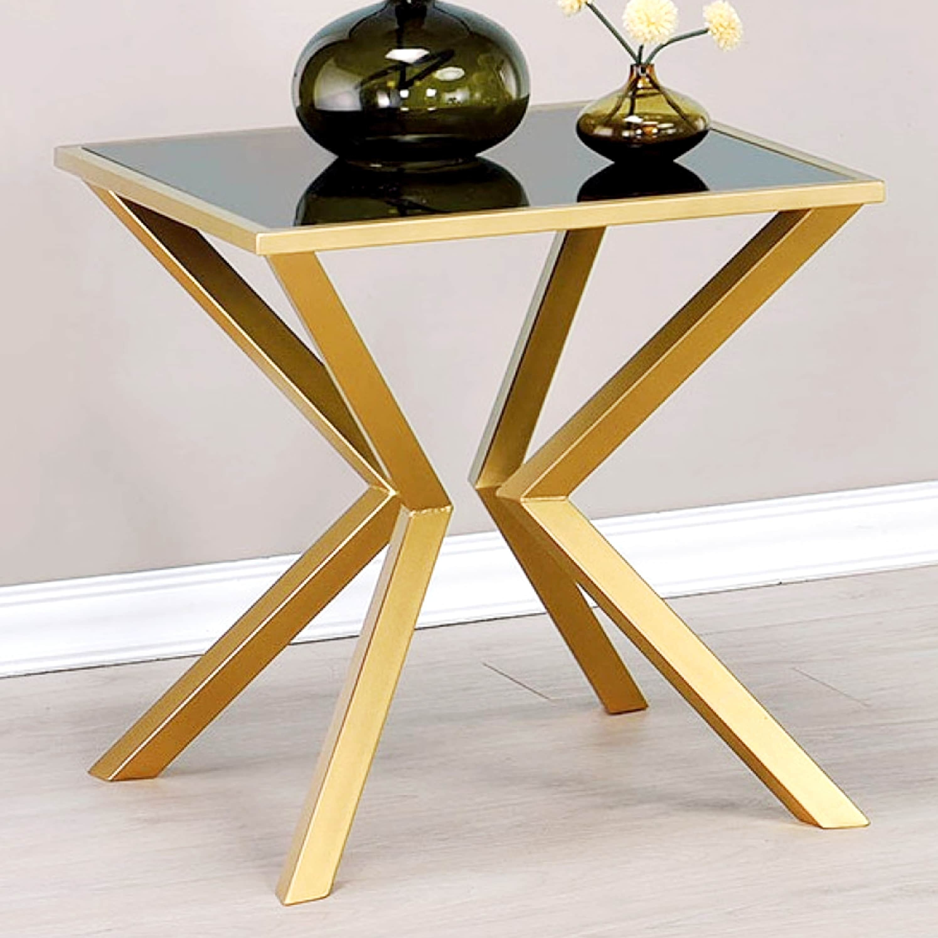 modern aesthetic accent table with black glass top coffee console res product information mid century dining room chairs purple lamp shade occasional lamps pier area rugs metal