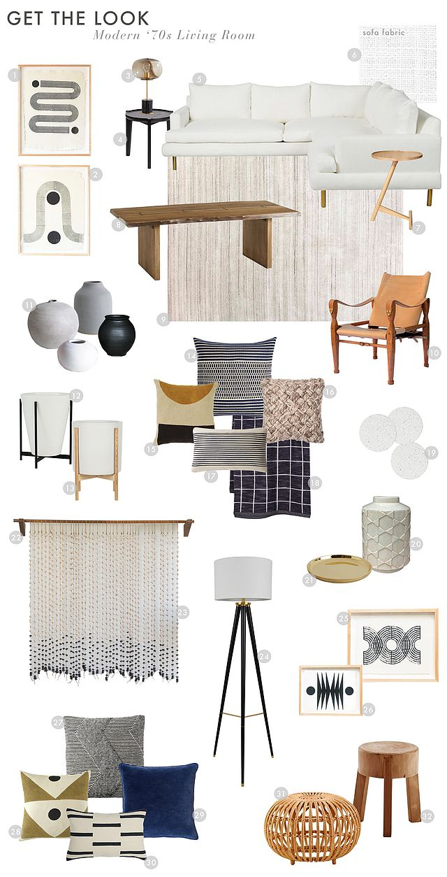 modern and organic living room makeover emily henderson bloglovin lovell accent table target sidewinder woodblock print sunwave balloon glass lamp black side sectional with brass