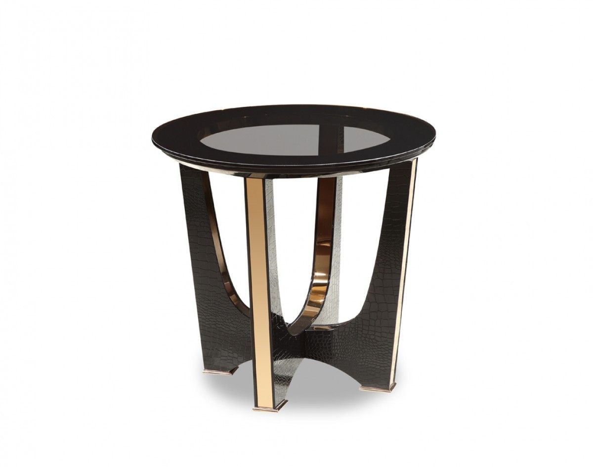 modern black glass round end table art urbane accent design artist fineart interiordesign beautiful fashion rustic furniture edmonton high console floral chair small wingback