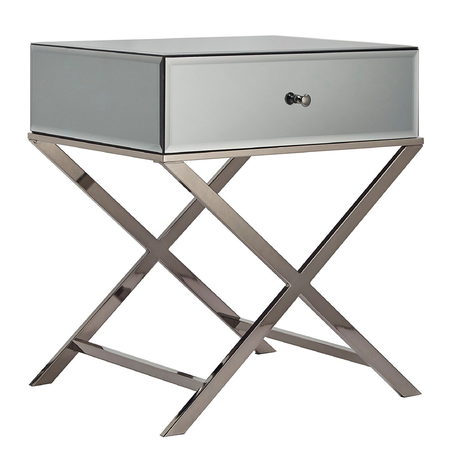 modern camille base metal framed mirrored accent campaign table camillenickel circular nesting tables vintage telephone small oak gray and white chairs youth drum throne ikea
