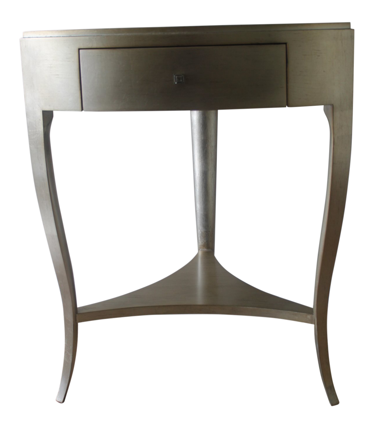 modern caracole silver accent table chairish gray tall white lamp urban chic furniture living room for small spaces target kitchen wrought iron end tables teak sofa outside grills