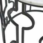 modern circular accent table shades light white black and marble chrome threshold bars hiend accents dining room living spaces end tables nautical lanterns bar height sets round 150x150