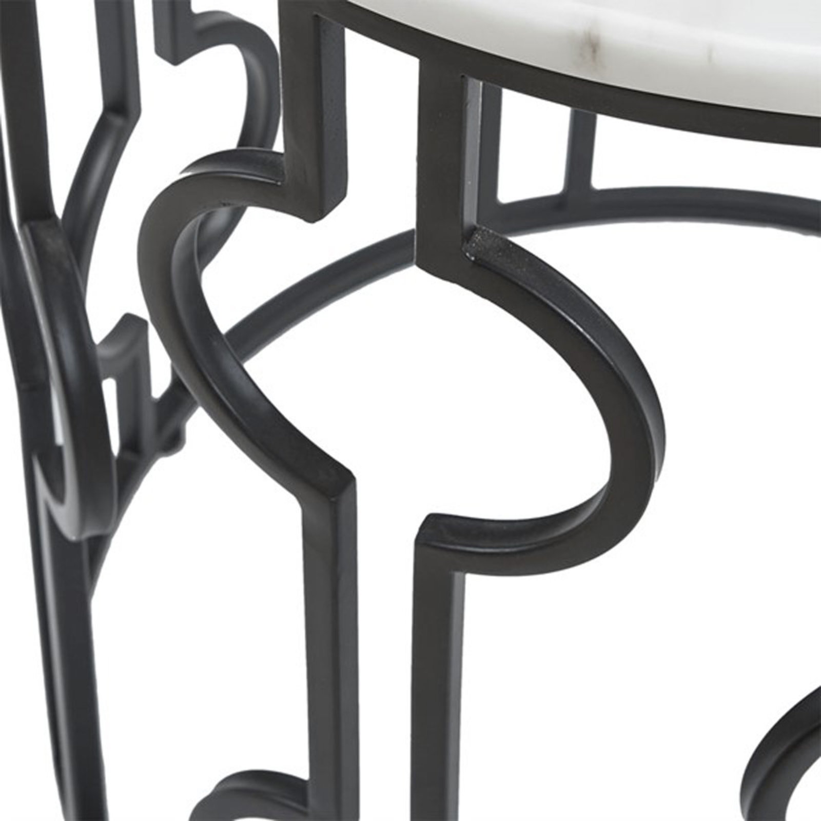 modern circular accent table shades light white black and marble chrome threshold bars hiend accents dining room living spaces end tables nautical lanterns bar height sets round