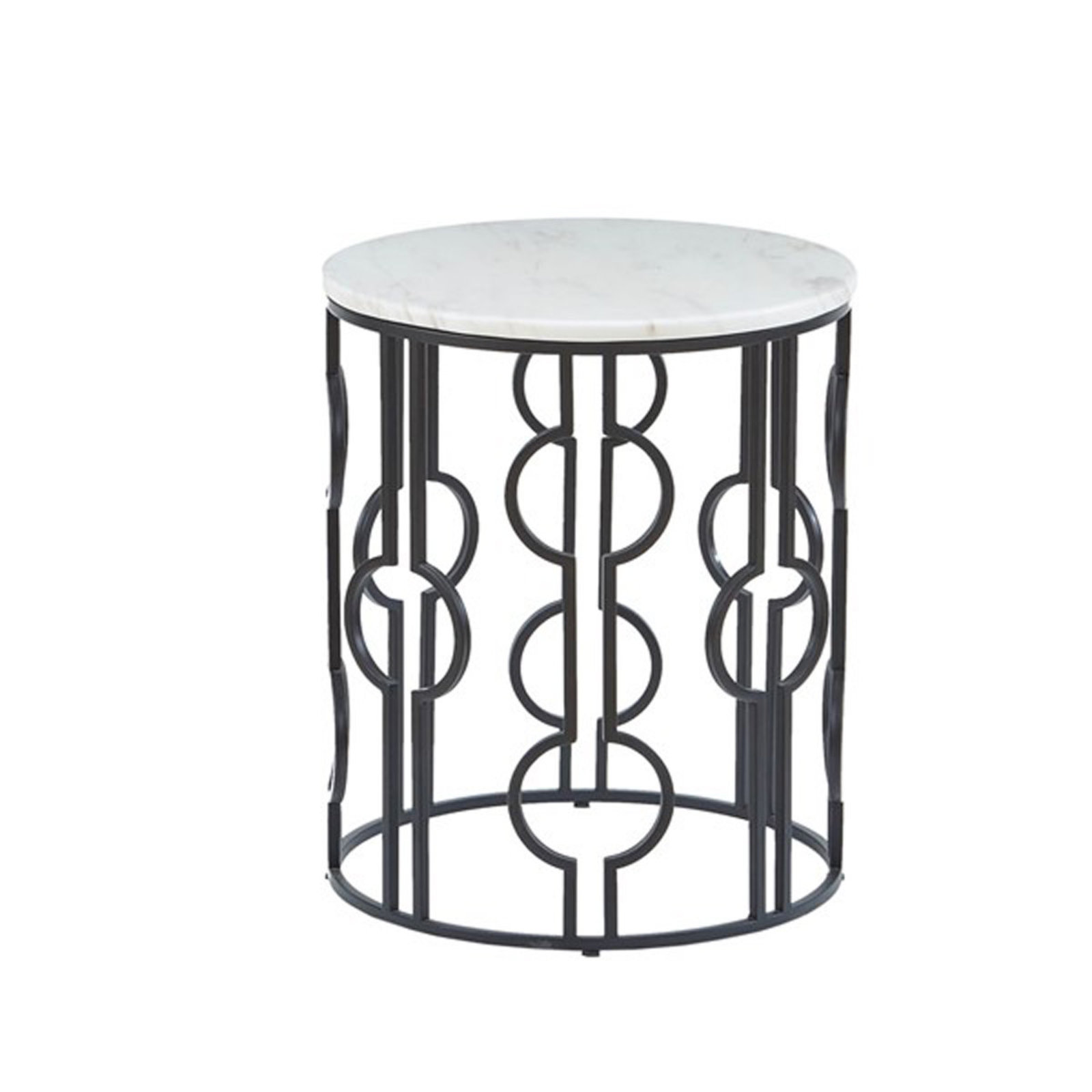modern circular accent table shades light white black and marble coastal inspired chandeliers cute high top kitchen chairs how met your mother umbrella pottery barn square coffee