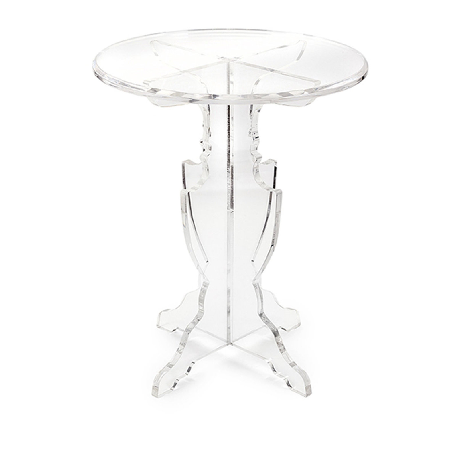 modern classic acrylic accent table shades light clear outdoor umbrella and stand wrought iron patio furniture lucite waterfall coffee chrome door threshold porcelain vase lamp