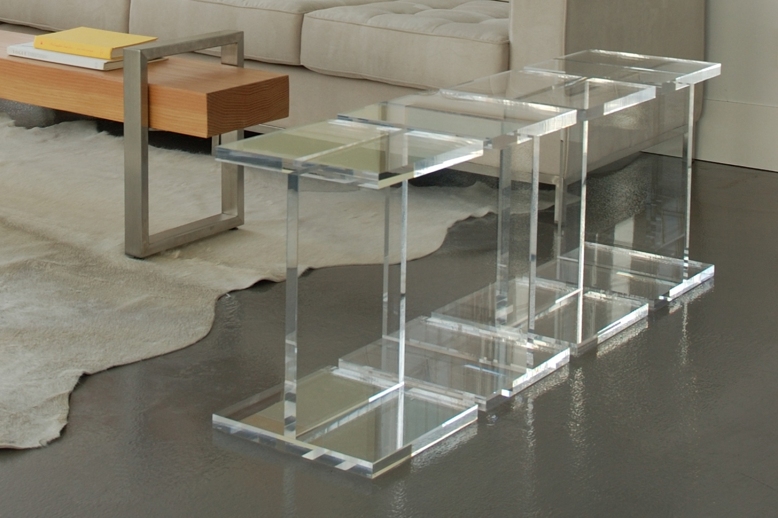 modern clear console table treatment furniture acrylic accent allen jones antique looking end tables illusion grey bedroom chair green whole lamp shades basic coffee garden covers