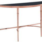 modern console tables side coffee furniture pascale glass table rose gold and black zuri inch high accent outdoor cement benches living room packages west elm free shipping code 150x150