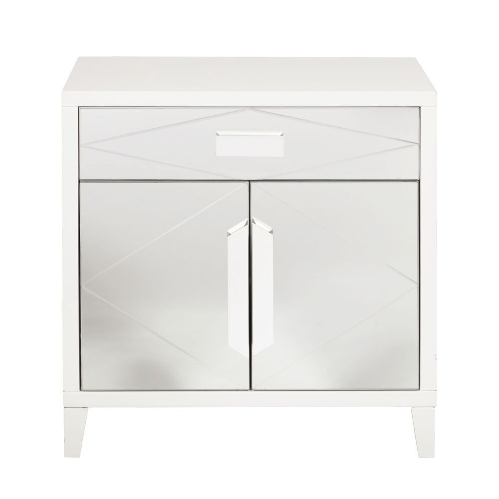 modern contemporary pulaski accents glam diamond mirror overlay door mirrored accent table details about chest white pottery barn square coffee light colored wood end tables home