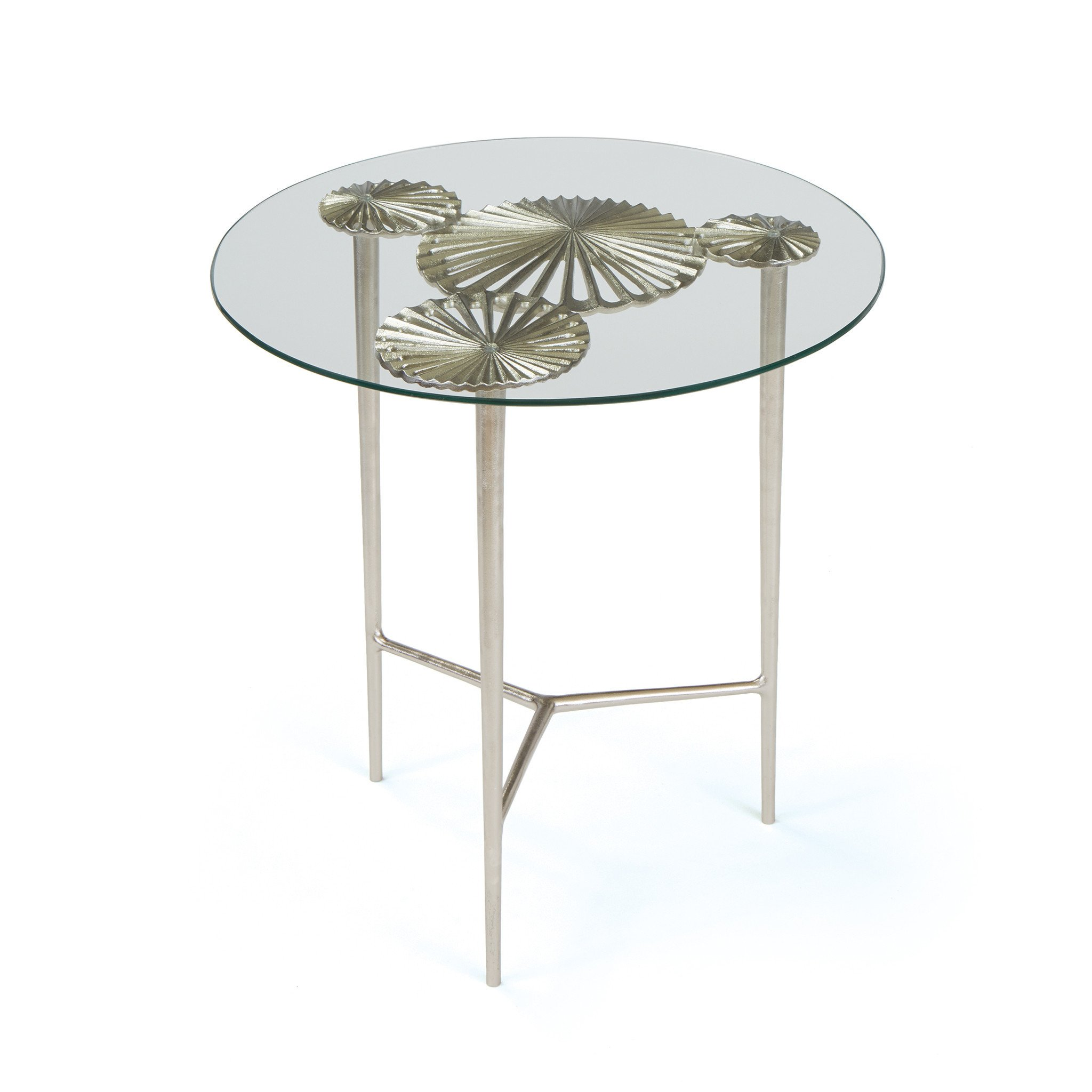 modern contemporary rustic vintage side end tables alan decor alton table with round glass top brushed nickel aluminum accent solid wood farmhouse dining small tiffany lamp piece