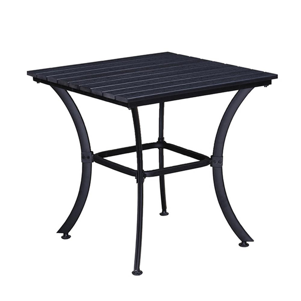 modern contemporary square faux wood slatted indoor and outdoor side tables table black steel quilting corner chairs glass bedside bulk tennis balls metal folding accent dining