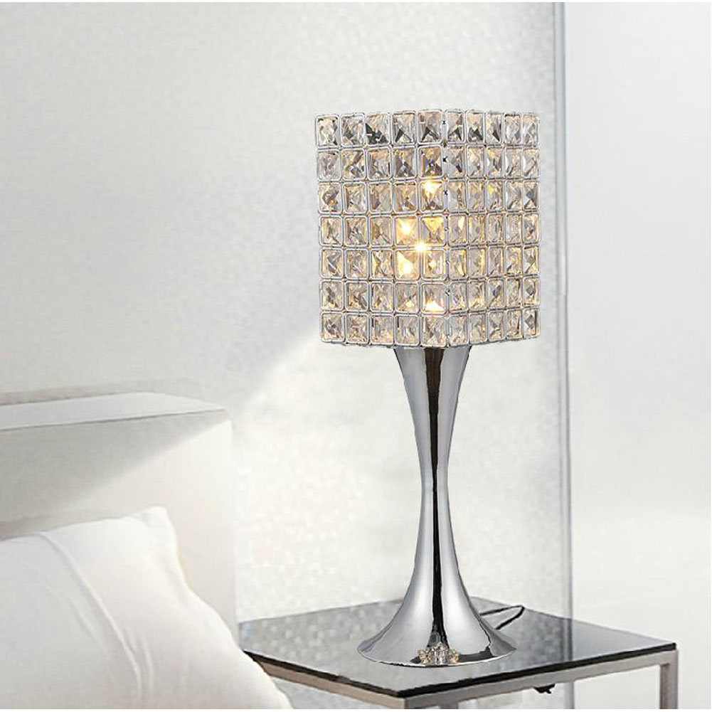 modern crystal table lamps the ultimate ing guide warisan oriental accent contemporary lights white retro furniture black steel legs standard end height resin wicker side