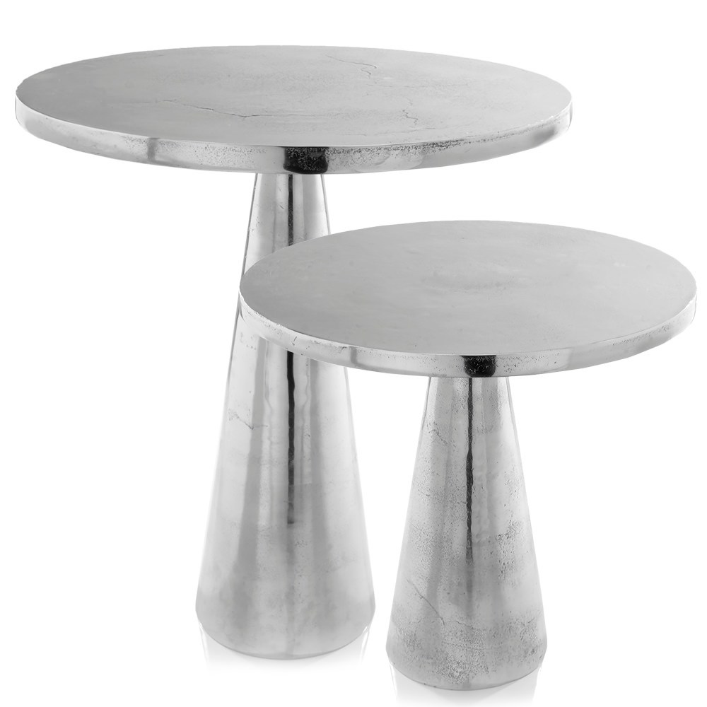 modern day accents cono transitional distressed silver aluminum side end table large small accent gray free shipping today garden patio living room furniture bedroom nightstand