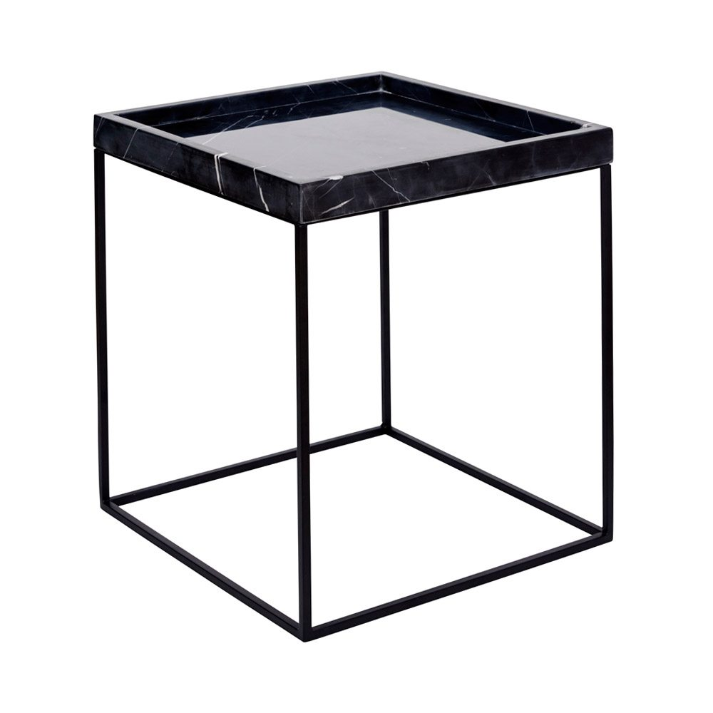 modern designer black marble tray side table steel base end pertaining round nightstand metal glynn accent coffee top decorative ideas dining cream runner contemporary room mosaic