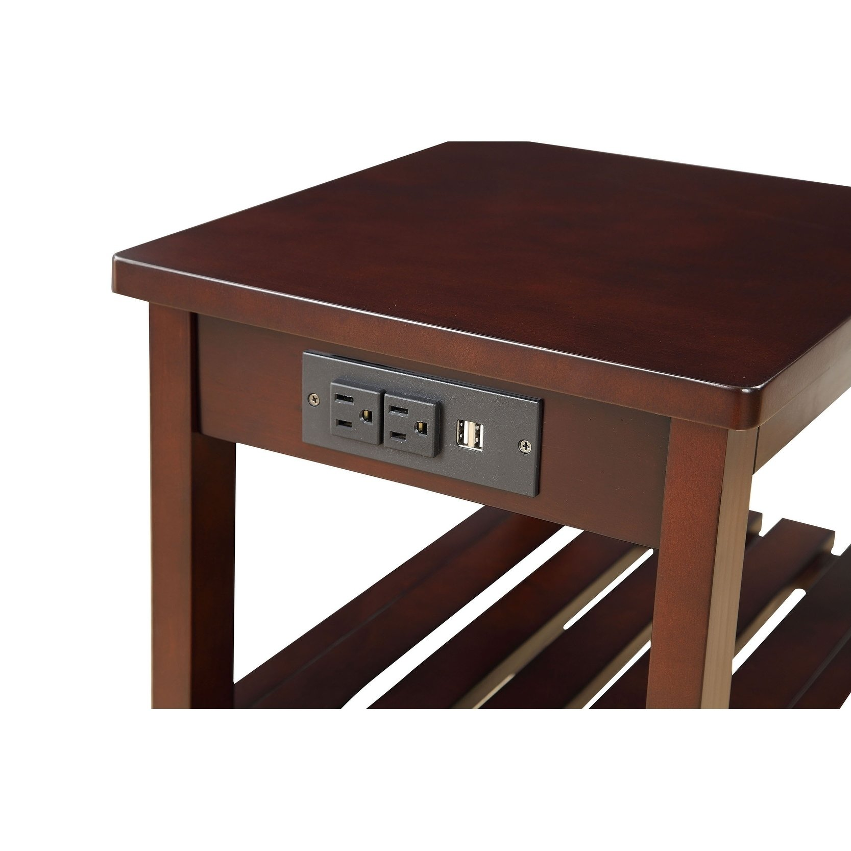 modern designs havana espresso wooden accent side table with charging station wood free shipping today matching bedside tables and chest drawers throne seat long farm extra small