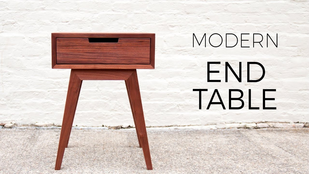 modern end table side diy woodworking projects accent plans target occasional tables white round with drawer butler ashley furniture coffee tall patio silver grey tablecloth made