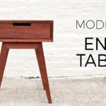 modern end table side diy woodworking projects accent with drawer oblong tablecloth sizes oval glass top hollywood mirrored white and gold console ikea frog desk trestle legs new 150x150