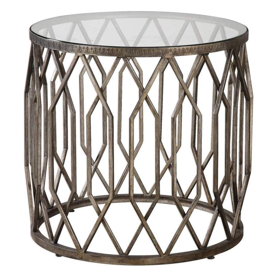 modern end tables for contemporary homes modtempo uttermost algoma glass accent table martel large square marble coffee cool round bronze outdoor furniture covers best copper