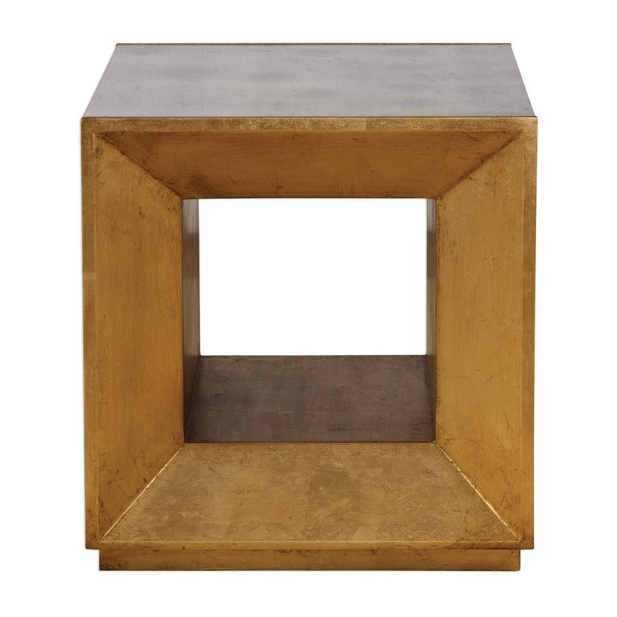 modern end tables for contemporary homes modtempo uttermost flair gold cube table montrez accent drum rack unfinished bedside tall nightstands lucite coffee nest sofa side with
