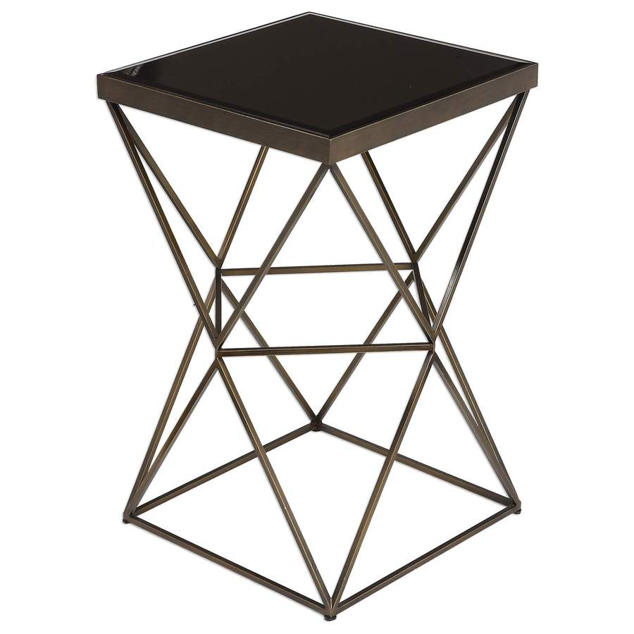 modern end tables for contemporary homes modtempo uttermost uberto caged frame accent table martel fur blanket target pottery barn glass top coffee rattan side furniture best inch