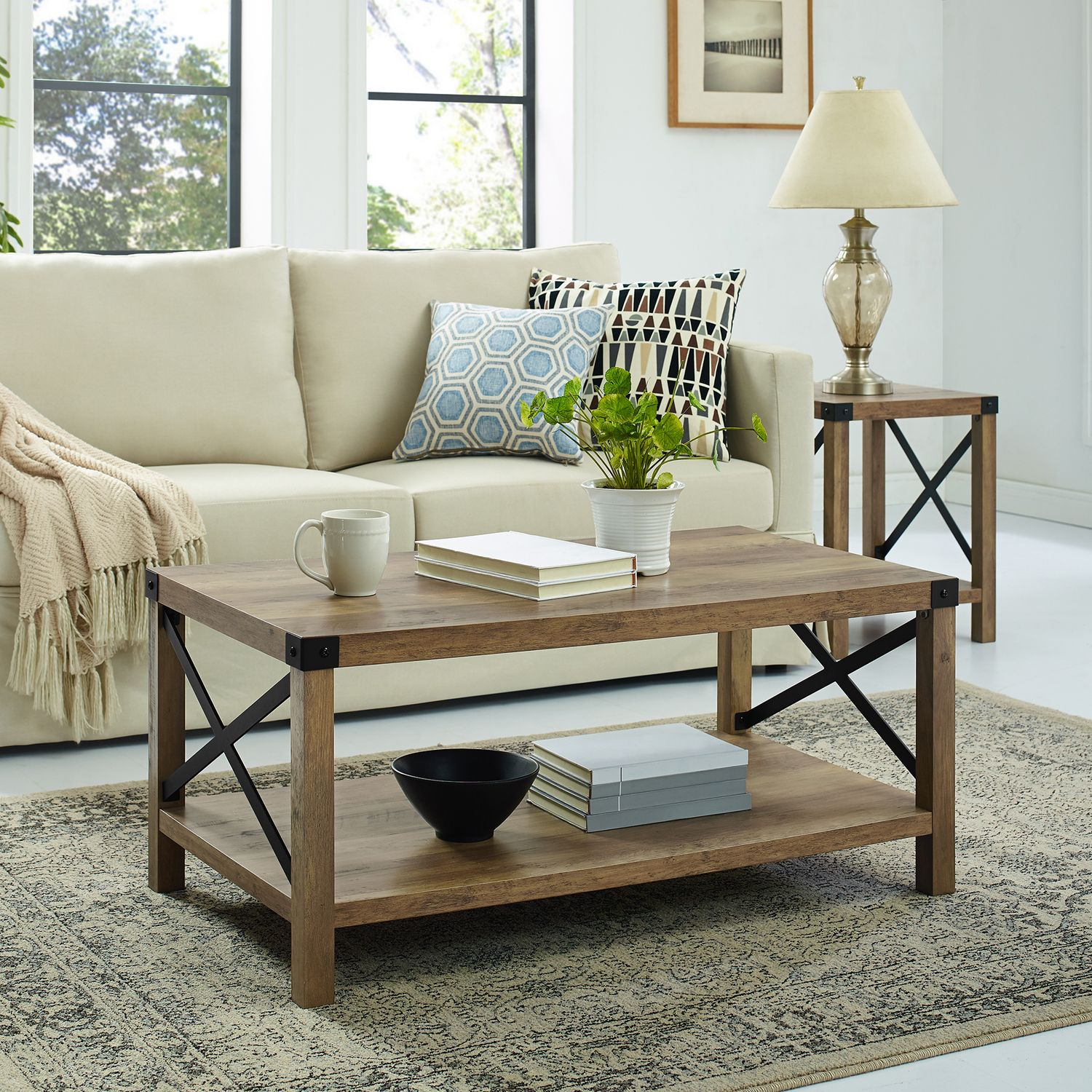 modern farmhouse rustic oak coffee table pier imports accent john lewis side tables painted wood outdoor recliner storage containers nautical dining room chandelier long