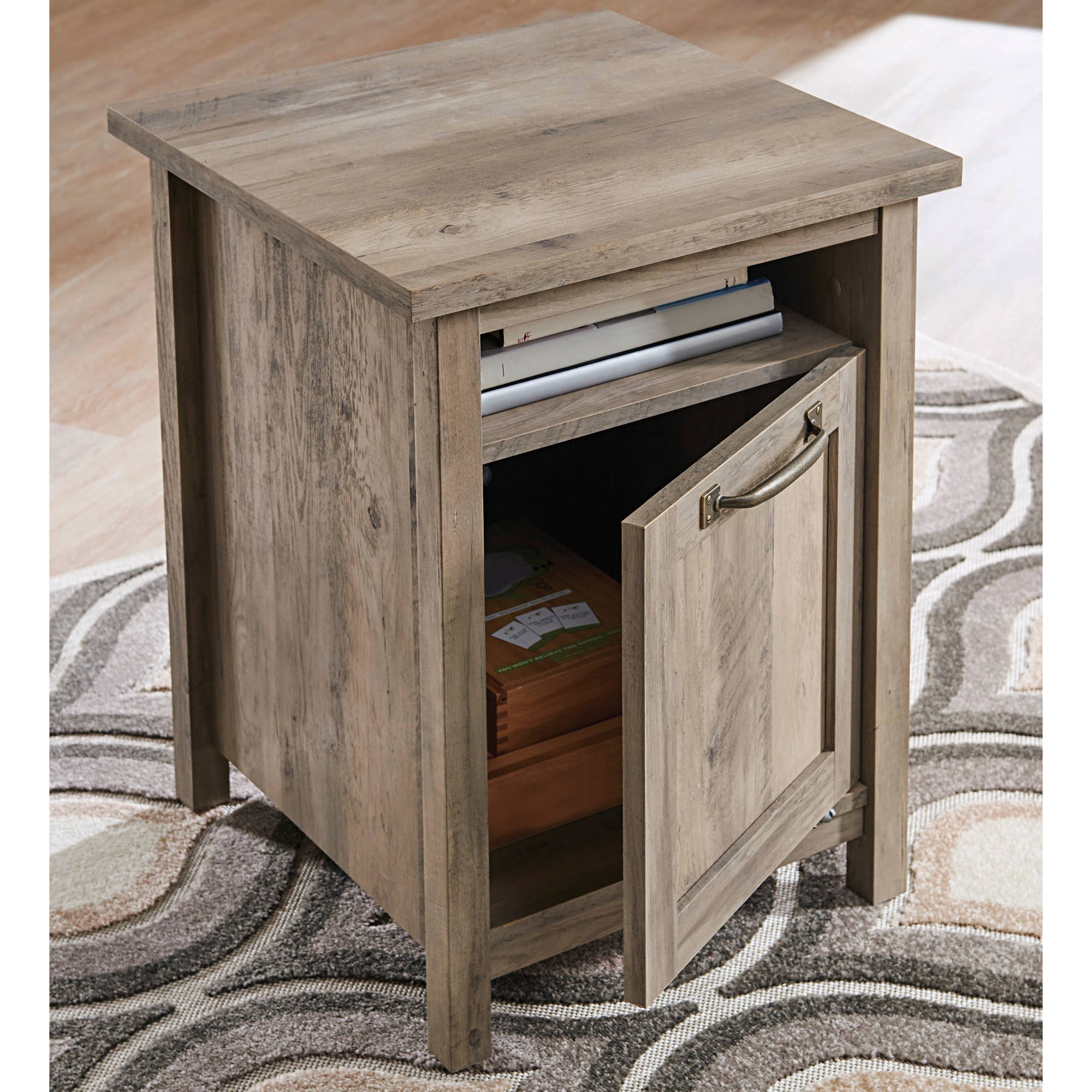 modern farmhouse side table better homes and gardens rustic accent gray finish pedestal bedside plus tablet high end lucite console stacking tables lack desk large white