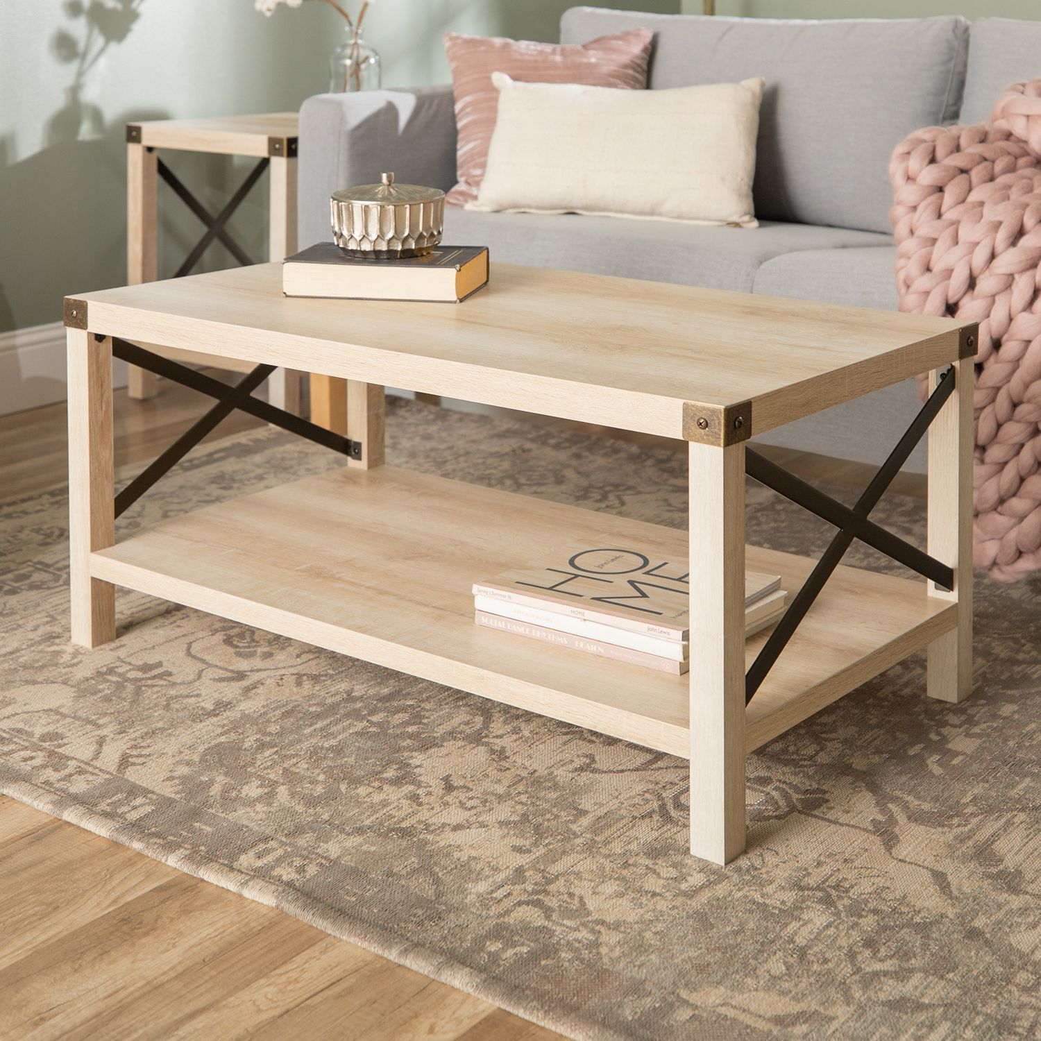 modern farmhouse white oak coffee table pier imports accent occasional chairs next mango wood dining threshold unfinished round adjustable lamp rustic outdoor furniture leather