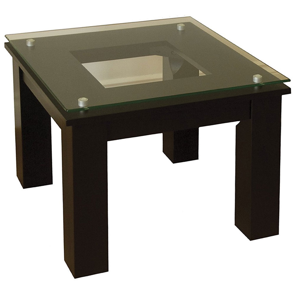 modern glass end table accent tables drum all black bar small living room chairs silver home decor pool umbrella target marble and wood coffee mirrored console ikea garden set