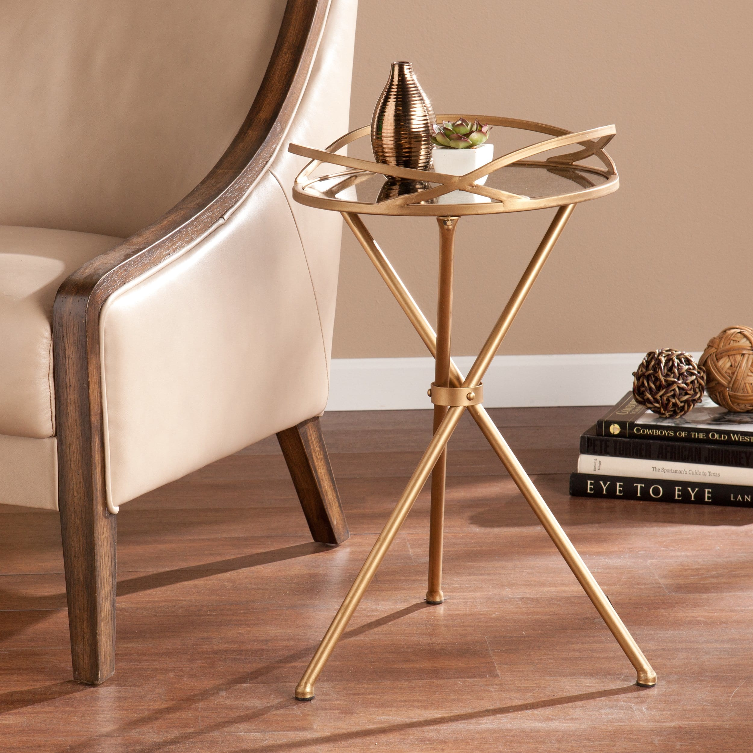 modern glass top end table tempered gold nightstand tray metal upton home linda mirrored accent side carpet termination strip coffee tables and small tall legs for outside chair