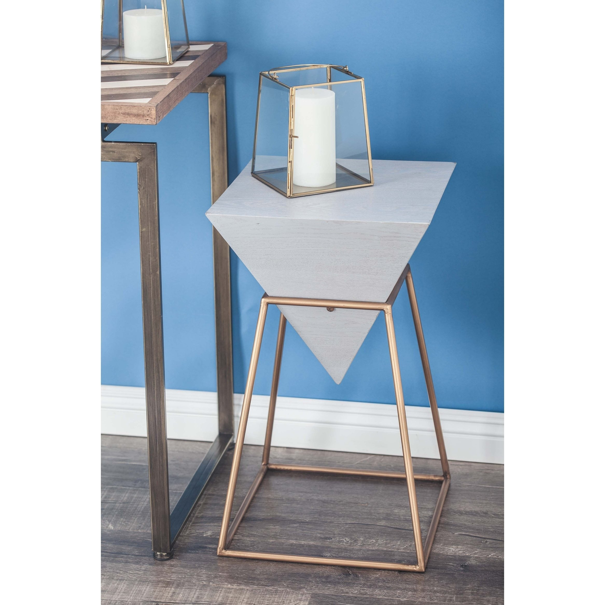 modern inch gray wood and iron accent table studio free shipping today chaise furniture red home accessories seaside decor farmhouse style dining room kitchen cupboards patio