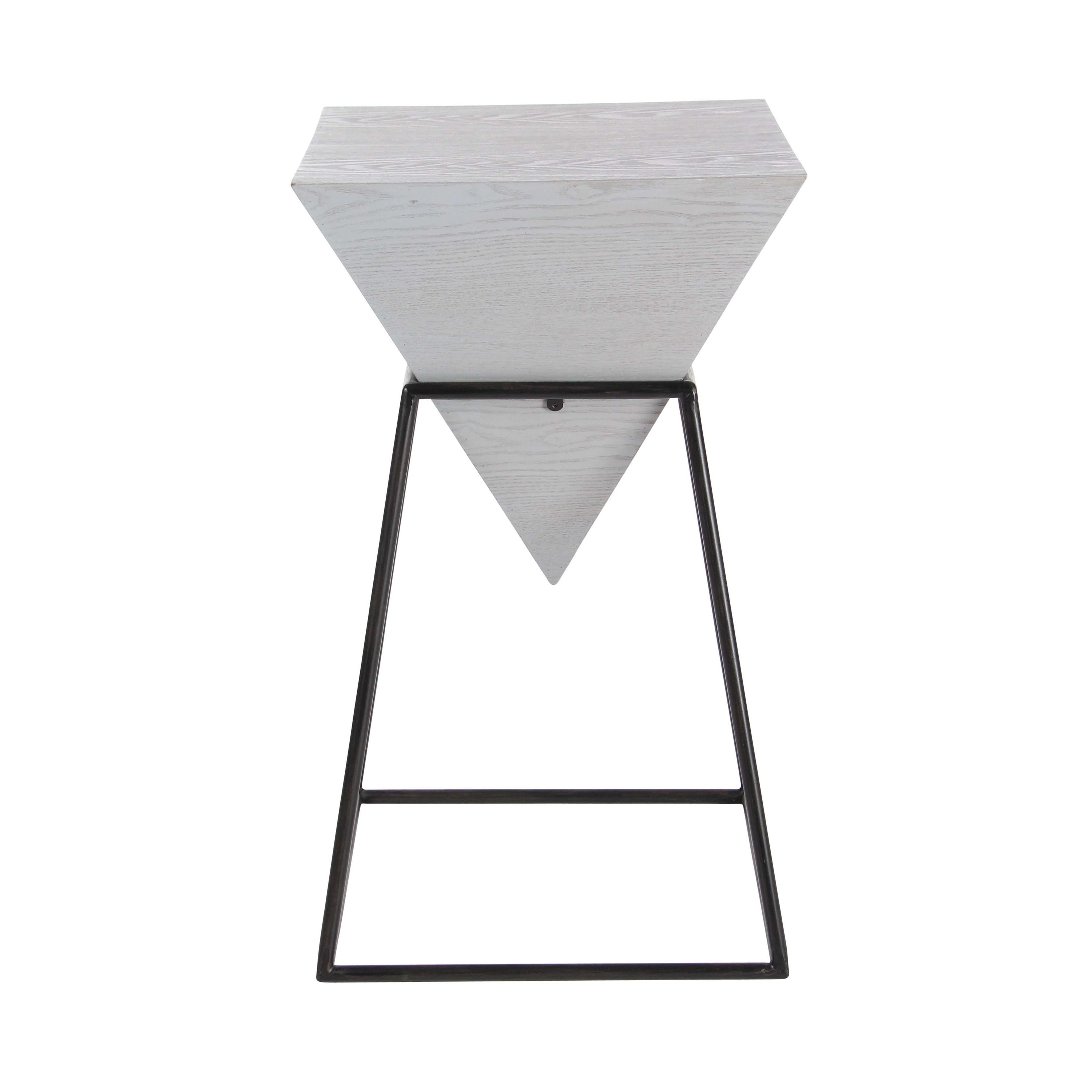 modern inch gray wood and iron accent table studio vanora free shipping today couch covers target black end tables round patio chair display coffee ikea with storage baskets