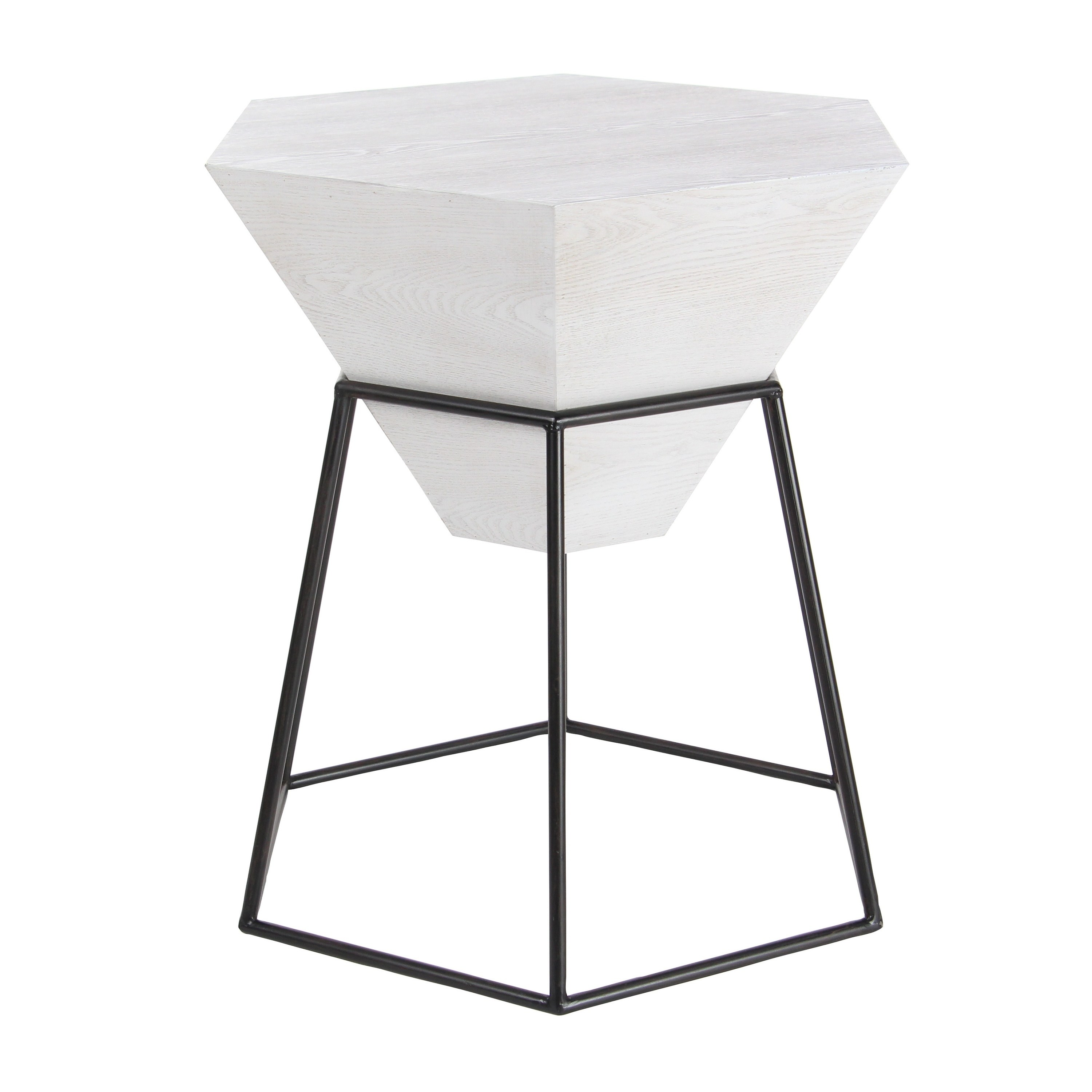 modern inch hexagon white block wooden accent table studio free shipping today sofa with baskets butterfly leaf cute black folding side outdoor light bulbs rod iron garden box