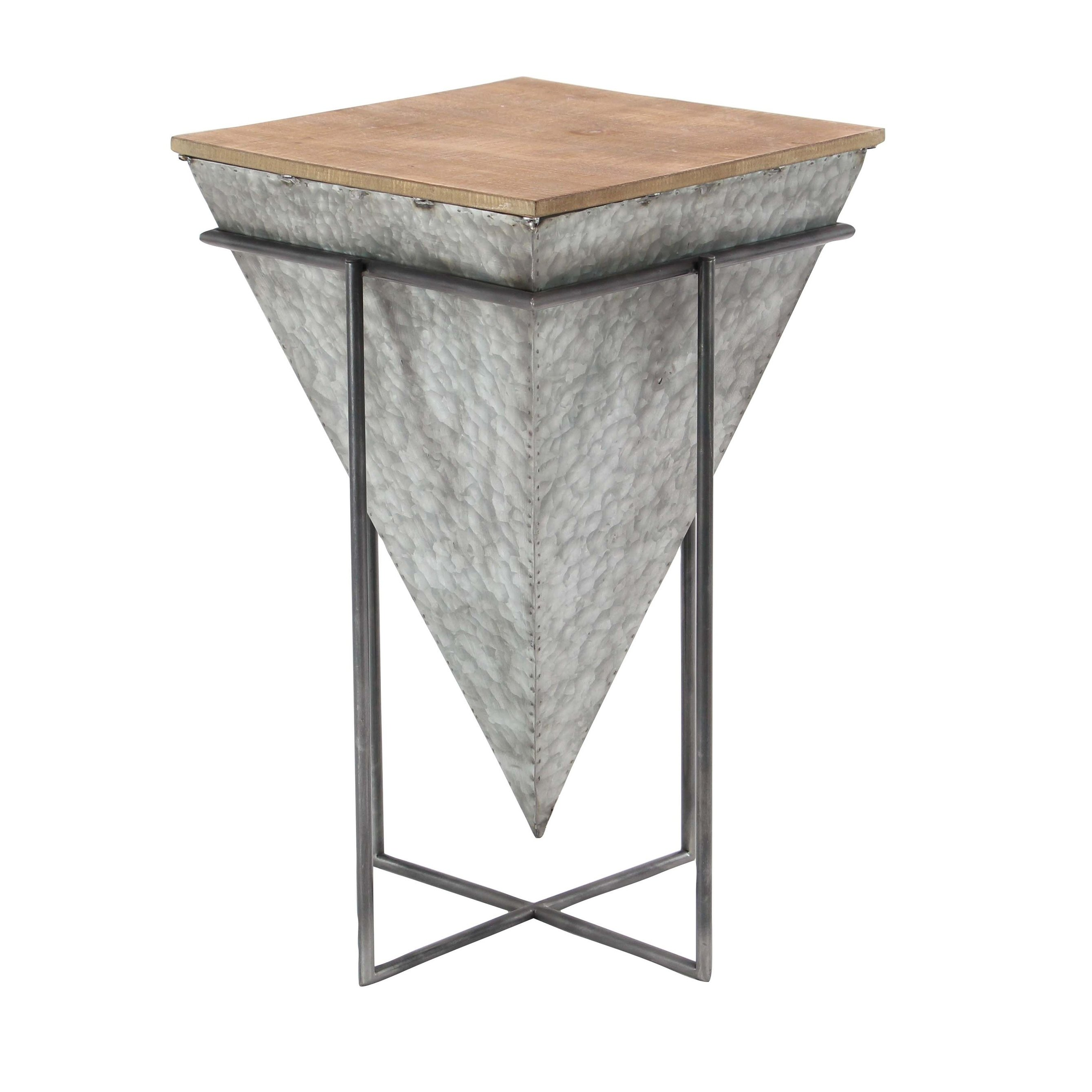 modern inch inverted pyramid accent table studio outdoor tables free shipping today magnussen end very small occasional battery powered lamp gold and combo coffee hall console