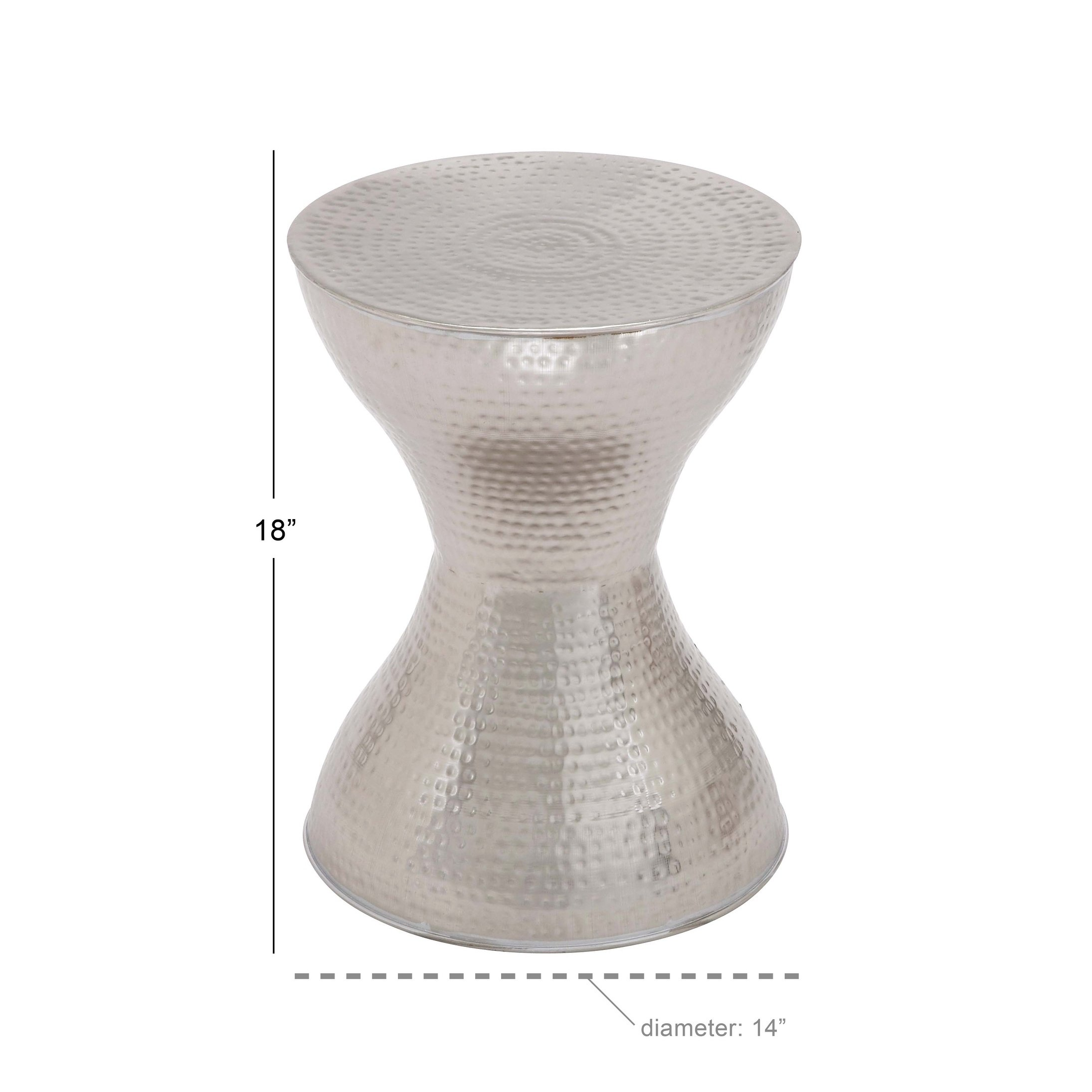 modern inch silver hourglass accent table studio vanora free shipping today large contemporary lamps dining decor clearance chairs round patio chair half circle coffee antique