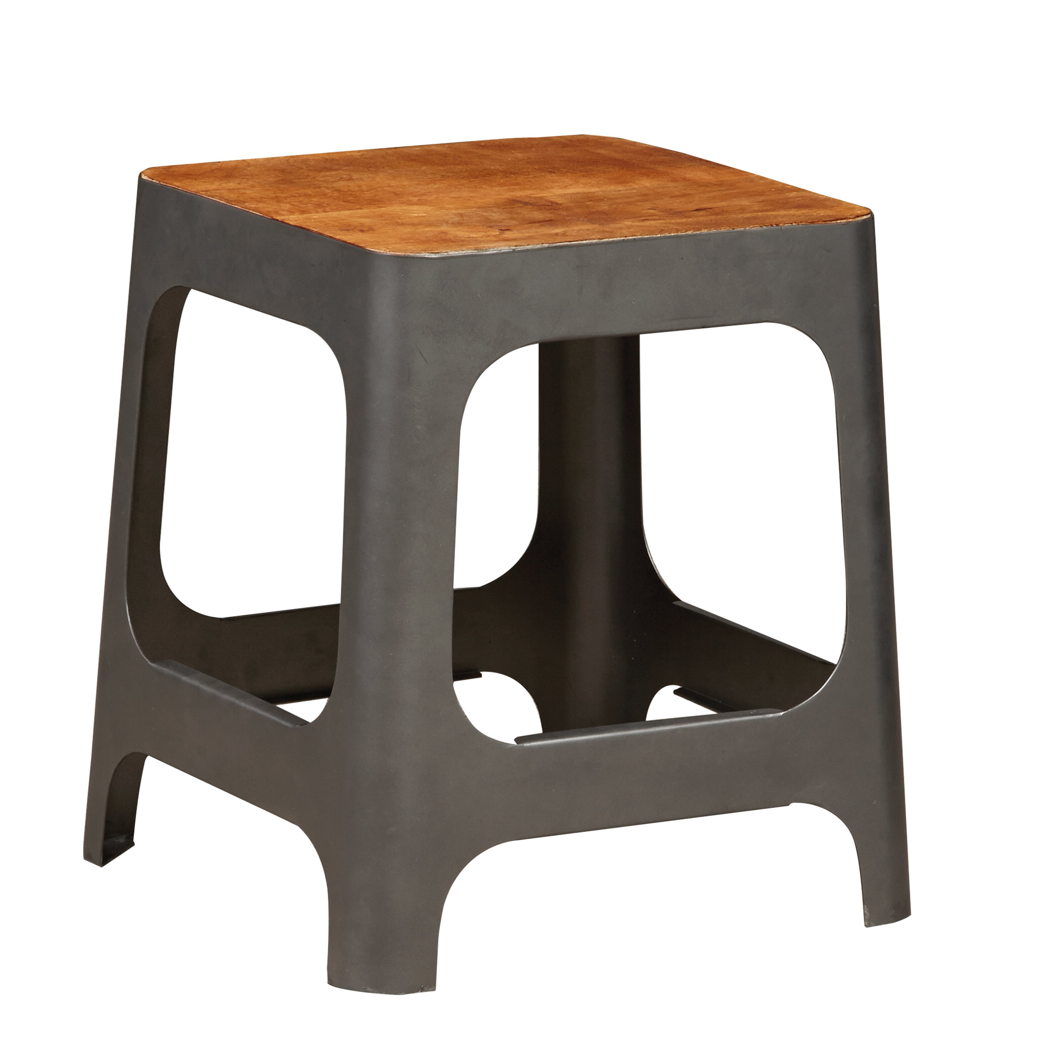 modern industrial chic iron accent table and stool free shipping today basket end triangle ikea chair dining turquoise furniture wrought tables with glass tops rustic white