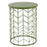 modern metal accent table green homepop products small antique hall cube tables ikea black office desk side with wheels hairpin legs couch decor vintage gold coffee concrete top 150x150