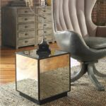 modern mirrored cube side end accent table antiqued mirror glass tables contemporary details about round coffee set trestle leg dining pendant light fixtures daniels furniture 150x150
