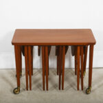 modern mobler drop leaf accent table danish teak rolling cart nesting tables tiffany rooster lamp central round counter height dining small wood teal end behind sofa twisted side 150x150