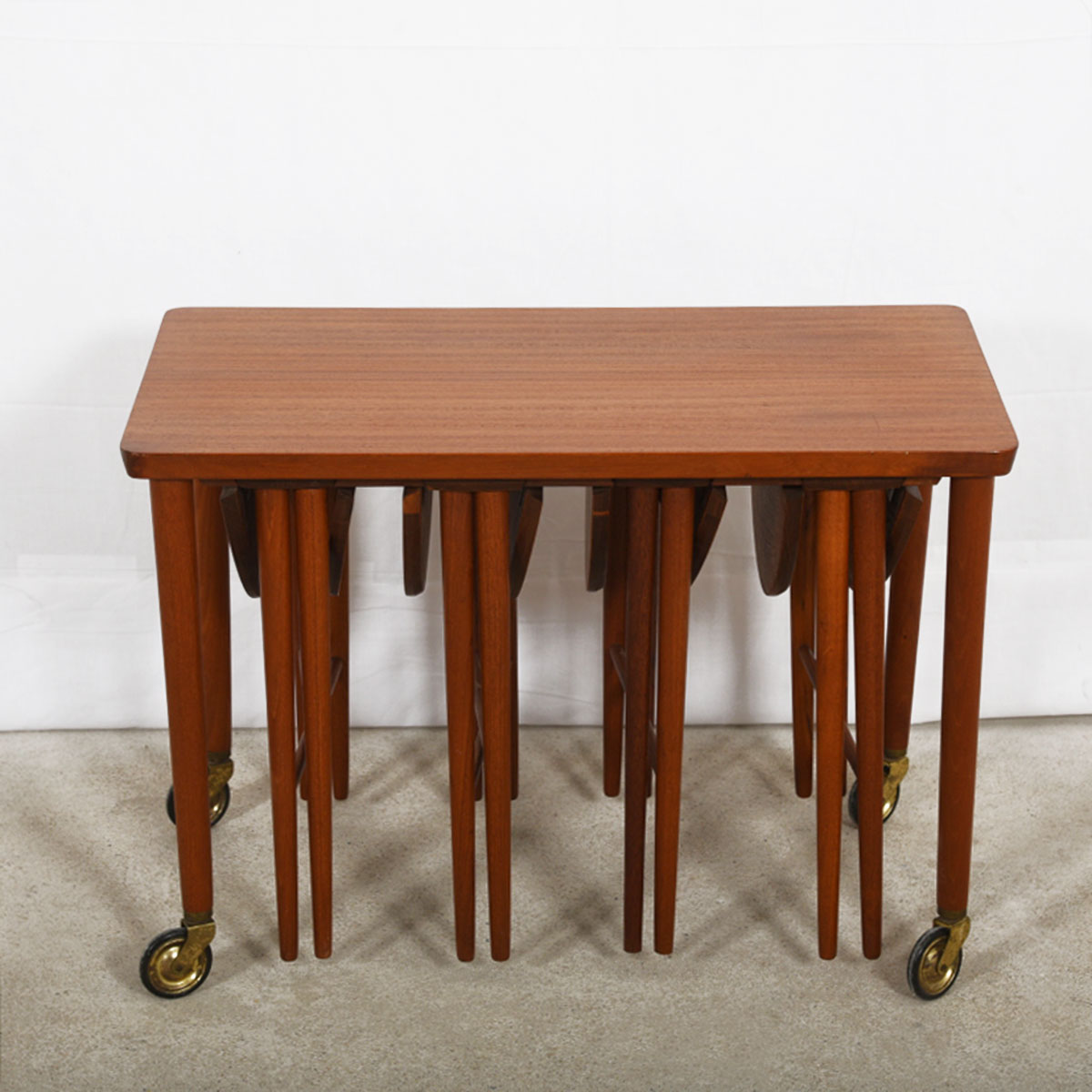 modern mobler drop leaf accent table danish teak rolling cart nesting tables tiffany rooster lamp central round counter height dining small wood teal end behind sofa twisted side